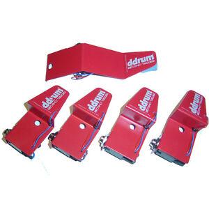 ddrum rskit 5 piece red shot acoustic drum trigger set 834035000465 ebay. Black Bedroom Furniture Sets. Home Design Ideas