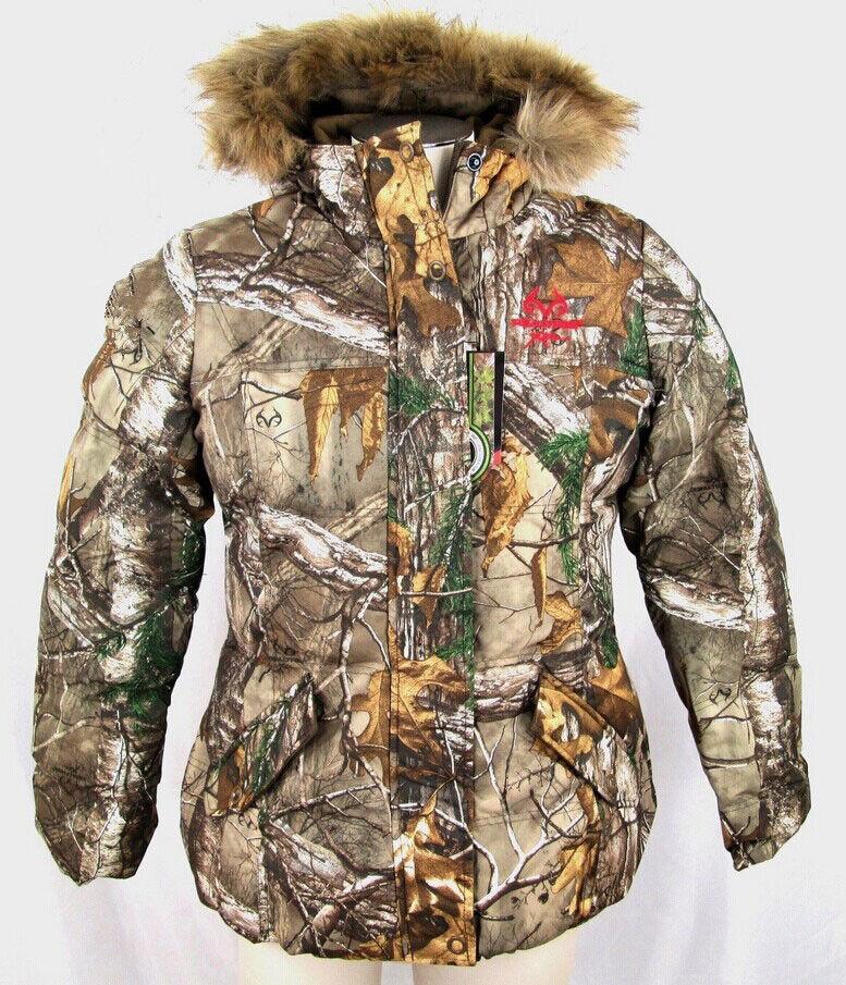 Nők téli Real Tree Camouflage Jacket Vadászat ruházat Melegítő ruházat Felsőruházat