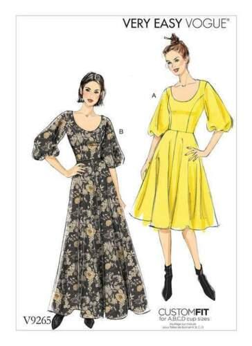 Schnittmuster Vogue 9265 Abendkleid Gr 32-48