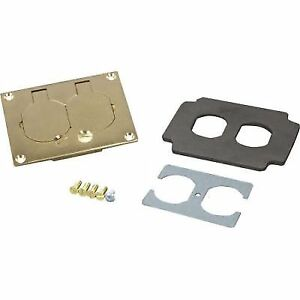 Buy Wiremold Legrand 828r Duplex Receptacle Floor Cover Plate Brass
