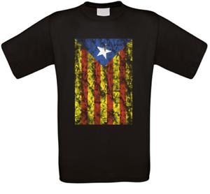CATALOGNA-CATALUNYA-CATALUNA-Barcellona-t-shirt-tutte-le-taglie-NUOVO