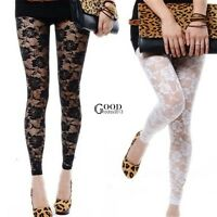 Sexy Fashion Lace Women Skinny Leggings Soft Stretchy Jeggings Slim Pencil Pants