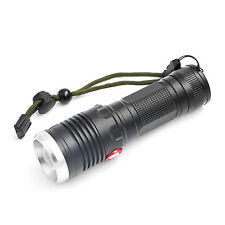 Rechargeable USB T6 LED 26650 Zoom Torch 3 Mode Flashlight Camping Lamp Aluminum
