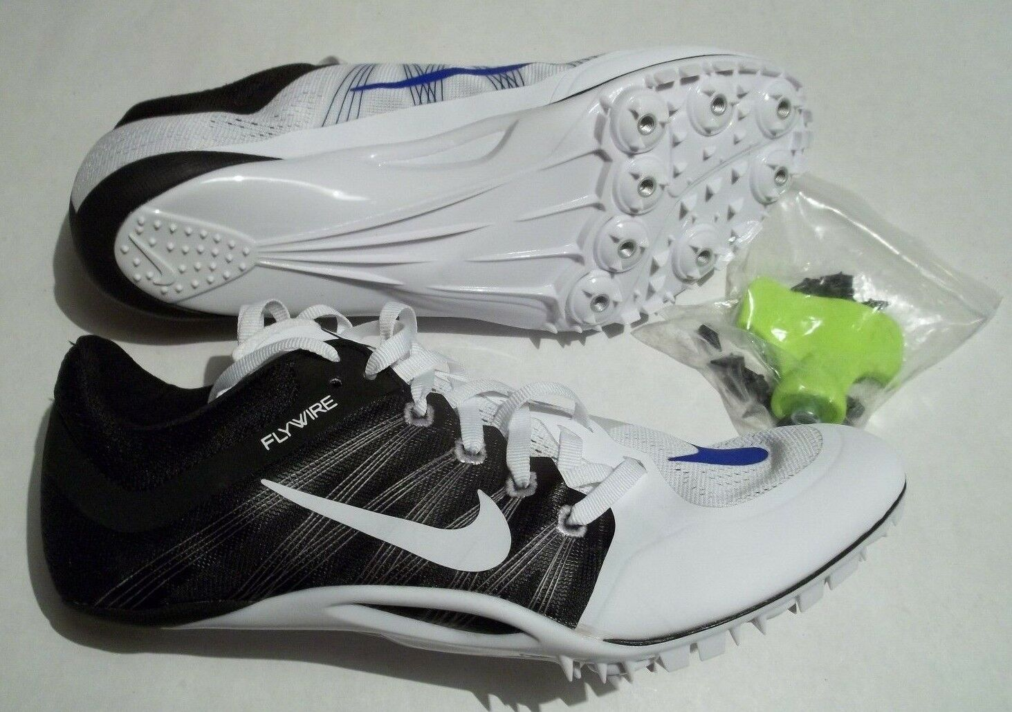 New Nike Zoom JA Fly 2 Track Sprint Shoes WITH Spikes and Tool  705373-100