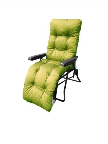 Plain Memory Foam Replacement Cushion For Garden Lounger//Recliner//Chair Lime