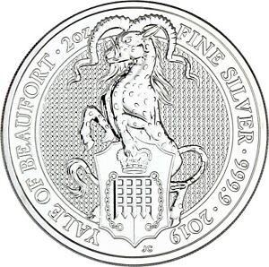 Grosbritannien-5-Pfund-2019-The-Queen-039-s-Beasts-Yale-von-Beaufort-Silbermunze