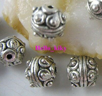 60 Pcs Tibetan silver Round spacer beads 7.5mm A1835