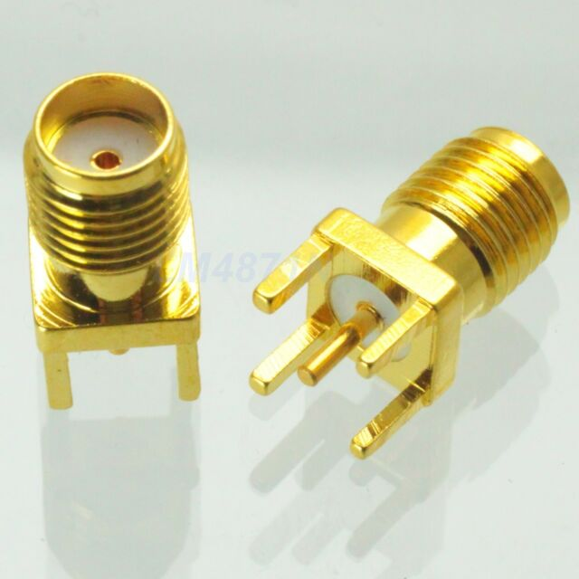 5pcs Connector SMA female jack solder PCB mount straight 5.08mm