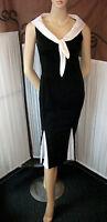 50's Pinup Style Wiggle Dress w Sailor Collar Detail,Goodwood,VLV,Rockabilly