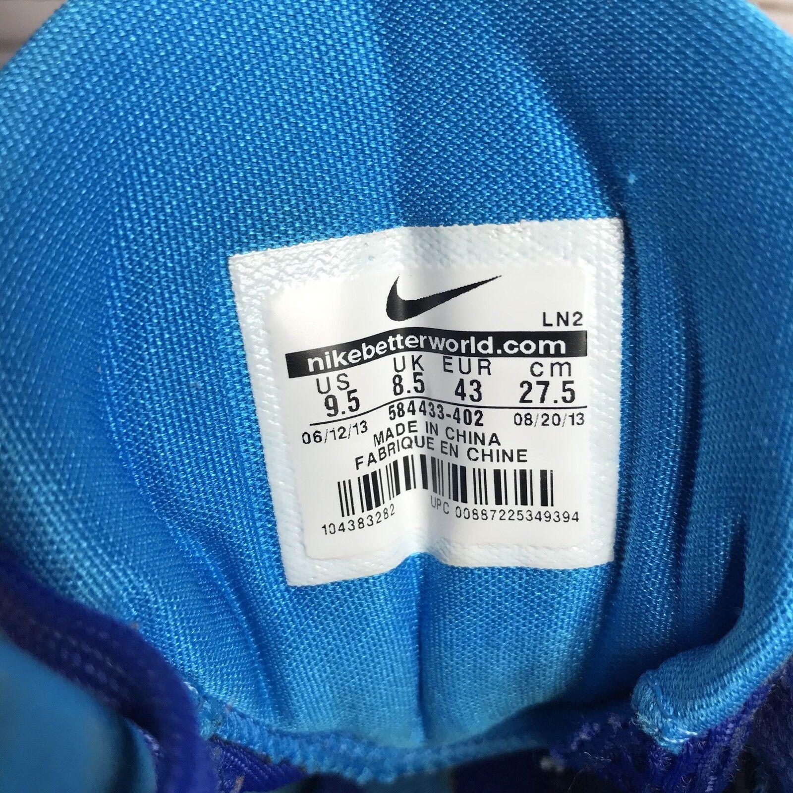 Nike Hyperdunk 2013 Men Basketball shoes shoes shoes 584433-402 bluee High Top Sneaker Sz 9.5 b4bbd8