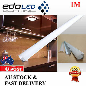 1M Corner Alloy channel Aluminium bar for Led Strip Light Cabinet Kitchen