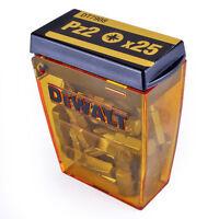 Dewalt 25 x Pozi 2 PZ2 x 25mm Screwdriver Bits in Box DT7908 Brand New