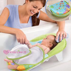BABY Infant Newborn BATH Bed TUB w/ HEAD SUPPORT SEAT Foldable ...