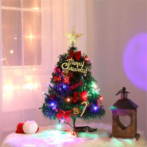 new styles 600fd 3982e Details about Desk Table Top Mini Pre-Lit LED Light Christmas Xmas Tree  Small Ornaments Decor