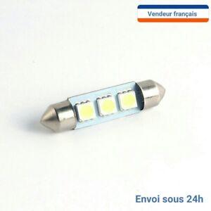 2-AMPOULE-NAVETTE-LED-C5W-36mm-BLANC-XENON-6000k-Auto-moto