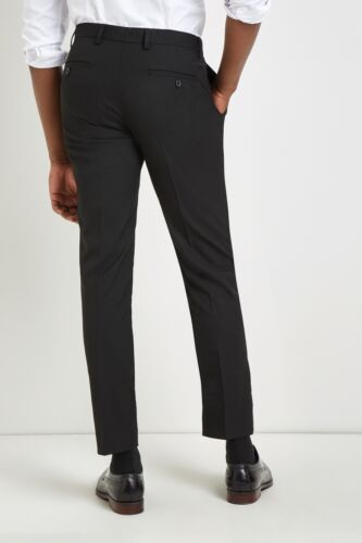con Pantaloni vestibilità Moss London aderenti neri aderenti Mens Pantaloni skinny 7qP0q