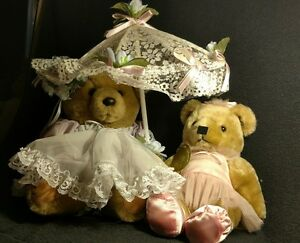 Bearly people teddy bear lot of two