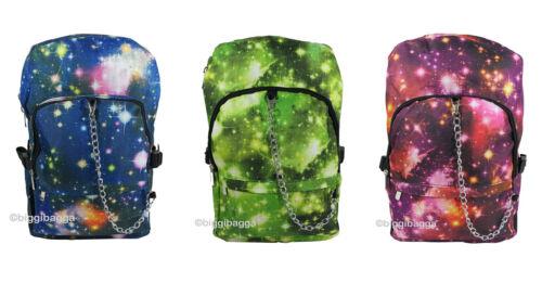 Spazio COSMOS Zaino Zaino Galaxy Star Universe emo goth Scuola College Borsa