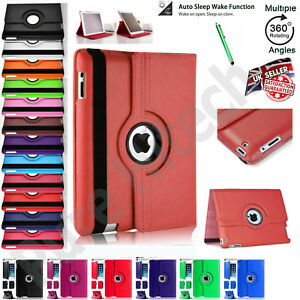 PU-Leather-360-Rotating-Smart-Flip-Stand-Case-Cover-For-Apple-iPad-9-7-10-5-10-2