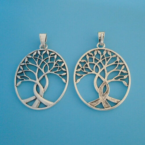5pcs Antique Silver Large Open Tree Life Charms Pendants for Necklace Making