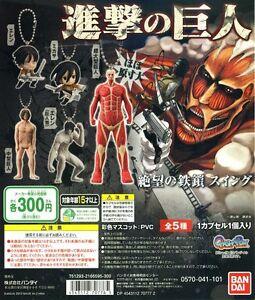 Takara Attack on Titan Shingeki no Kyojin Deform Mini Keychain Figure Set of 5