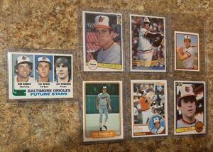(7) Cal Ripken 1982 Topps Fleer Donruss Rookie 1983 1984 Sticker Card Lot RC HOF