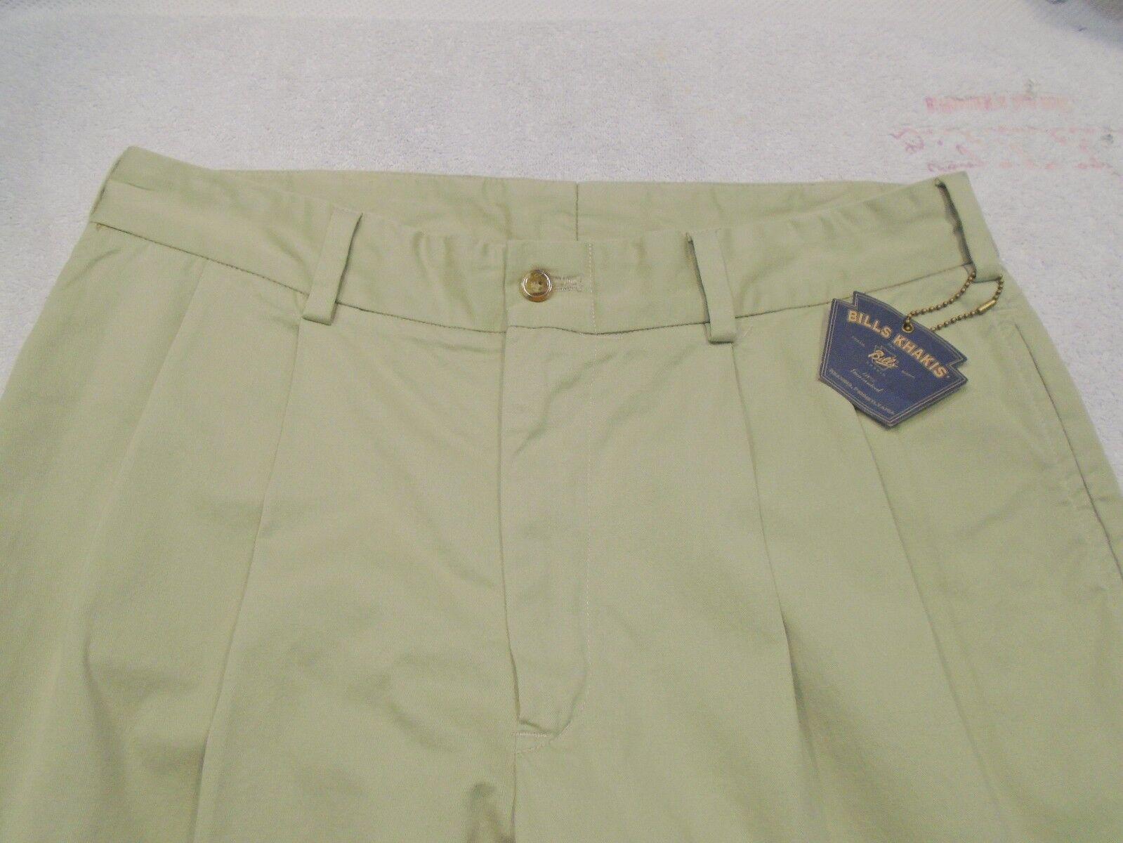 Bills Khakis 100% Cotton Chamois Cloth Pleated Front Pants NWT 32 Waist  M2P
