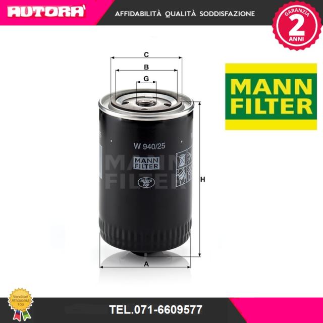 W94025 Filtro olio (MARCA-MANN).