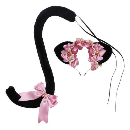 Cute Soft Plush Cat Ears Headband And Tail Kit Fancy Dress Costume Furry