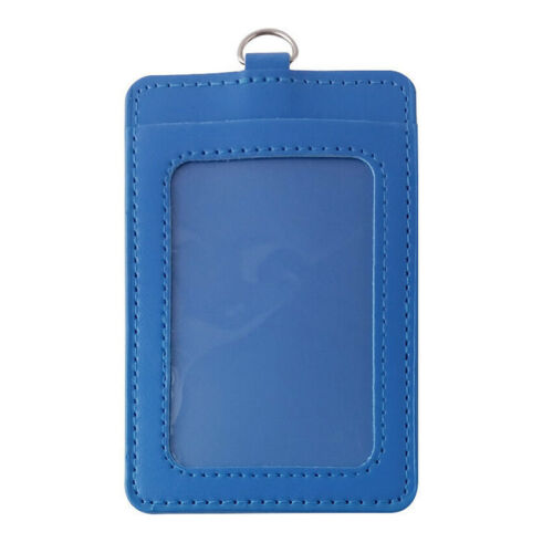 PU Leather ID Card Holder Case Business Exhibition Pass Office Work Supply