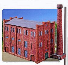 Fabrik mit Schornstein freistehend 1:87 H0 Bastelbogen Kartonmodell Schreiber