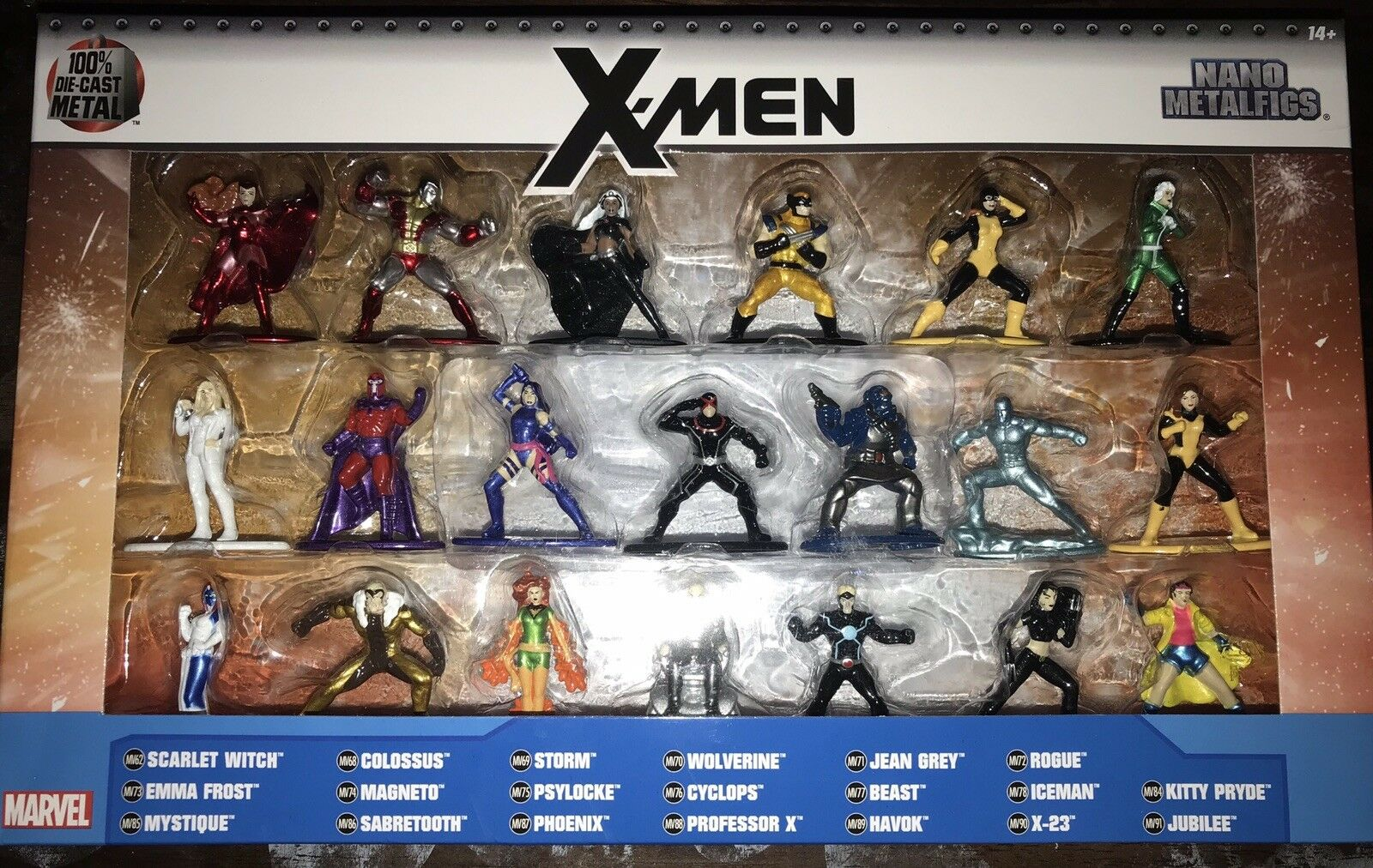 Jada Toys Marvel Die Cast Metal Xmen Complete Figure Set 21 Pcs