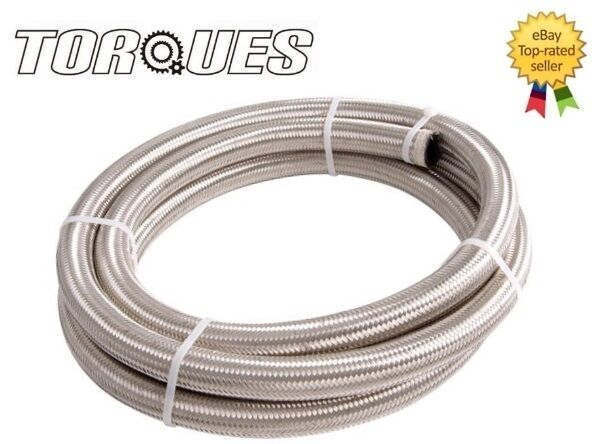 AN -12 AN12 JIC -12  Stainless Braided Dry Sump Oil Fuel Water Hose 3m