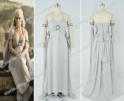 Game of Thrones Daenerys Targaryen Mother of Dragons Cosplay Cos Costume Dress