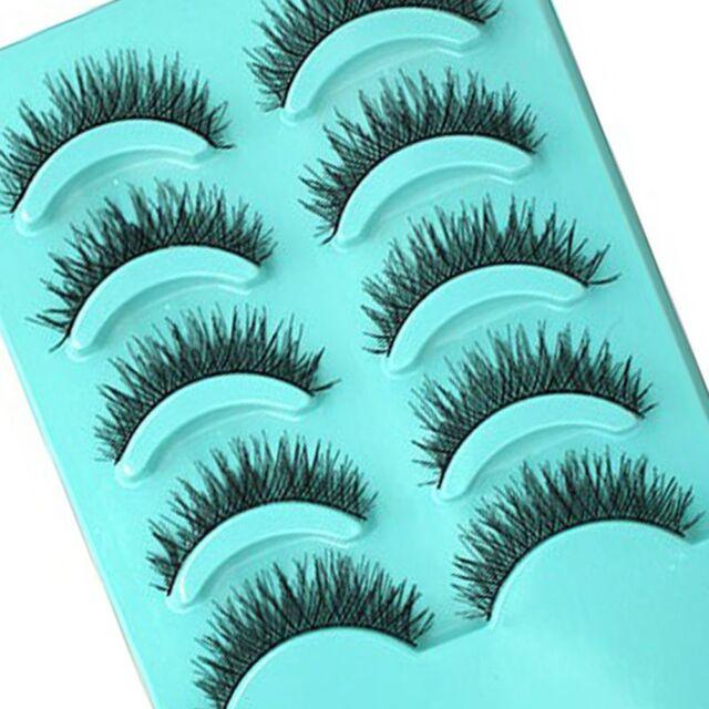 5 Pairs Eye Lashes Popular Beauty Tools Pretty Long Thick Cross Falses Eyelashe