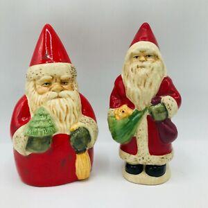 Vintage Russ Berrie Ceramic Santa Claus Figures Decor Christmas Holiday St Nick