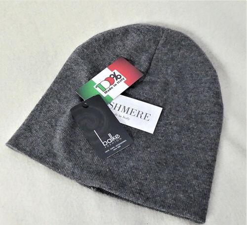 Feinstrick-Beanie doppelt gestrickt mit Merinowolle und Cashmere Made in Italy