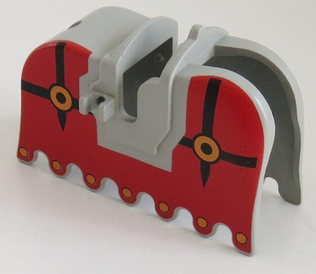 Ritter Tier // Zubehör LEGO rot // weiß # 2490pb03 Pferdedecke