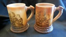 """Westmoreland Speciality Co. """"Rookwood""""  (2) steins  - milk glass"""