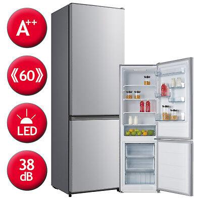Kühlschrank Kühl-Gefrierkombination A++ Comfee KGK188 A++ Silber LED Beleuchtung