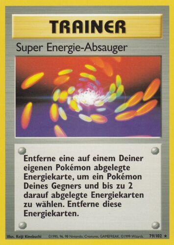 base//Base tedesco POKEMON super-energia-aspiratore NM 79//102