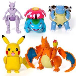 Pokemon Go Pokeball Pikachu Mewtwo Transformers Transform Action Figure Toy Kid Ebay