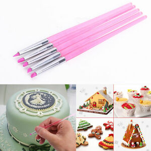 Cake Decorating Modelling Icing : 5pcs Cake Decorating Silicone Icing Brush Pen Sugarcraft ...