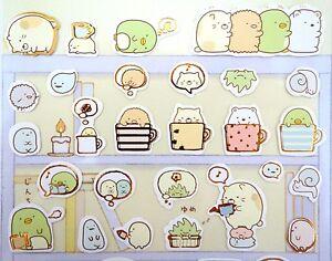 Japanese San-X kawaii stickers food /& tea Sumikko Gurashi sushi bar stickers