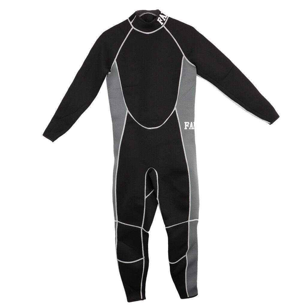 Women Men 3mm Neoprene Wetsuit Diving Suit Snorkeling for Surfing Canoeing