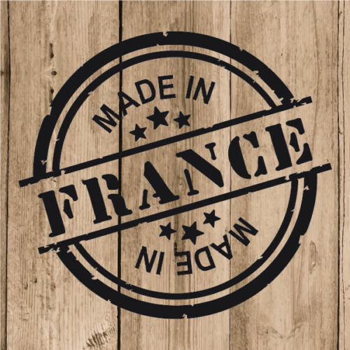 """4/"""" Decal Stamp Made in France Car Laptop Tablet France Sticker Vinyl 10 cm"""