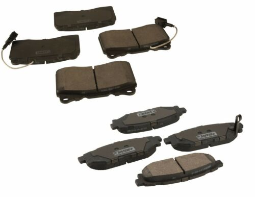 For Set of Front /& Rear Brake Pads WBR for Subaru WRX STI 2013-2016