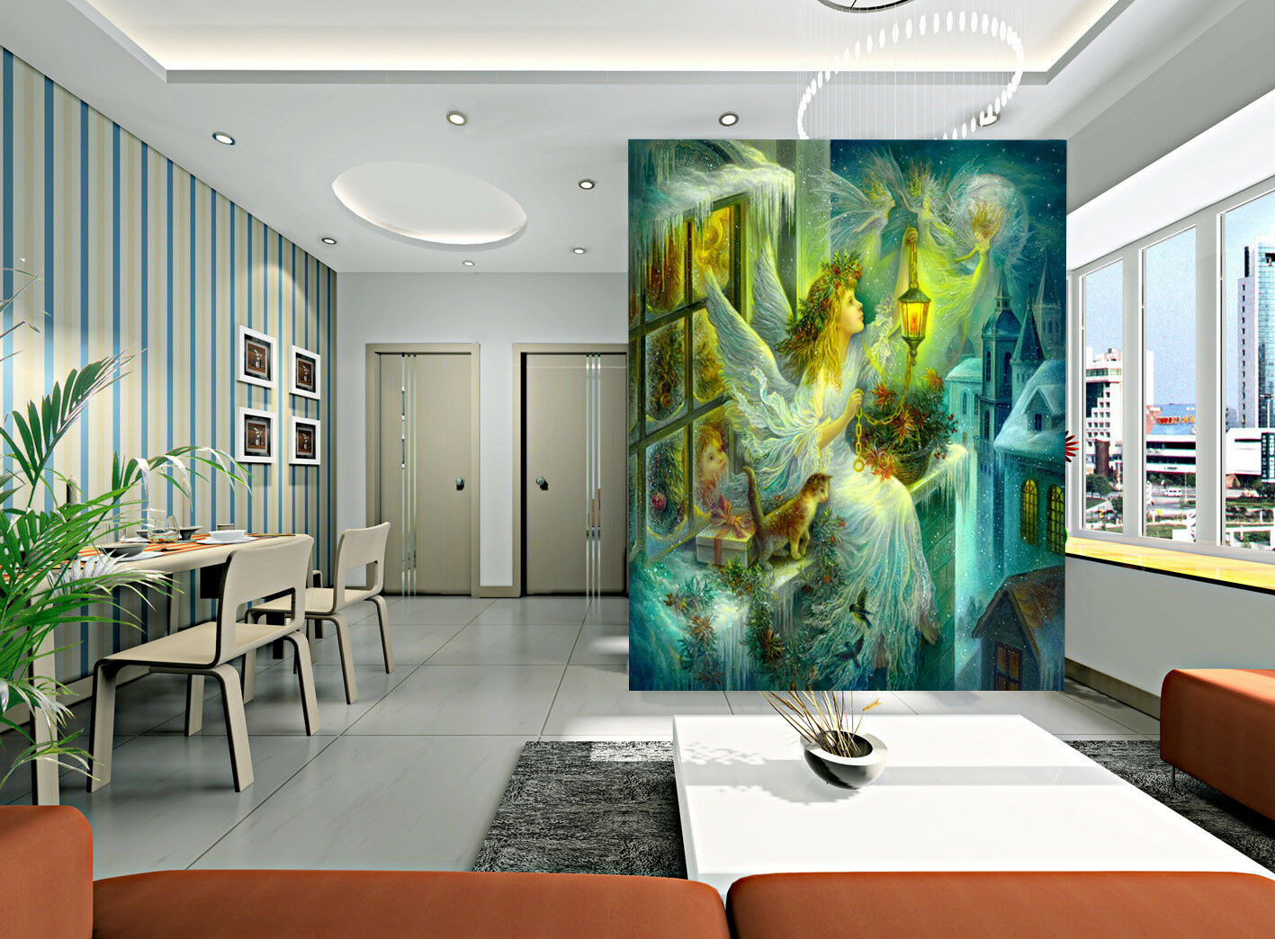 3D Angle Light 45 Wallpaper Murals Wall Print Wallpaper Mural AJ WALLPAPER UK
