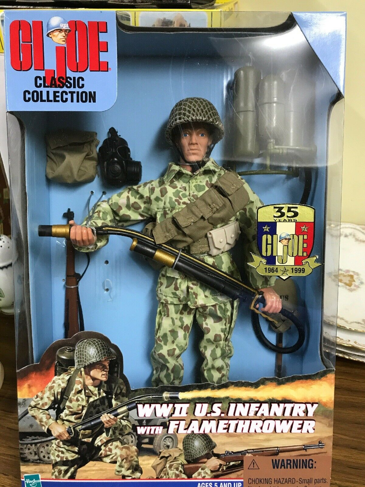 GI Joe Classic Collection - WWII U.S. Infantry With Flamethrower - NIB