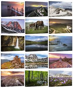 Dettagli su Quadri Moderni 100x60cm Paesaggi Abruzzo Foto D\'autore Stampe  su Tela Intelaiate
